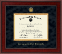 Youngstown State University Diploma Frame - Presidential Gold Engraved Diploma Frame in Jefferson