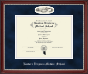 Eastern Virginia Medical School Diploma Frame - Campus Cameo Diploma Frame in Kensington Silver