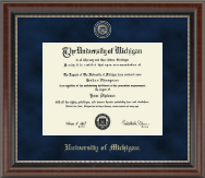 University of Michigan Diploma Frame - Regal Edition Diploma Frame in Chateau