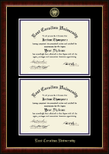 East Carolina University Diploma Frame - Double Diploma Frame in Murano