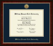 William Howard Taft University Diploma Frame - Gold Engraved Medallion Diploma Frame in Murano