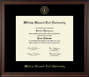 William Howard Taft University Diploma Frame - Gold Embossed Diploma Frame in Studio