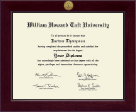William Howard Taft University Diploma Frame - Century Gold Engraved Diploma Frame in Cordova