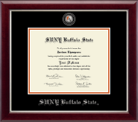 Buffalo State College Diploma Frame - Masterpiece Medallion Diploma Frame in Gallery Silver