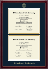 William Howard Taft University Diploma Frame - Double Diploma Frame in Gallery