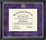 East Carolina University Diploma Frame - Regal Edition Diploma Frame in Noir