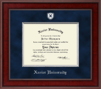 Xavier University Diploma Frame - Presidential Shield Masterpiece Diploma Frame in Jefferson