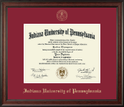 Indiana University of Pennsylvania Diploma Frame - Gold Embossed Diploma Frame in Studio
