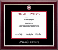 Miami University Diploma Frame - Pewter Masterpiece Medallion Diploma Frame in Gallery Silver