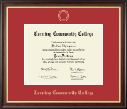 Corning Community College Diploma Frame - Gold Embossed Diploma Frame in Studio Gold