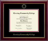 Corning Community College Diploma Frame - Gold Embossed Diploma Frame in Gallery