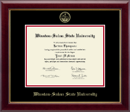 Winston-Salem State University Diploma Frame - Gold Embossed Diploma Frame in Gallery