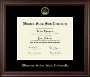 Winston-Salem State University Diploma Frame - Gold Embossed Diploma Frame in Studio