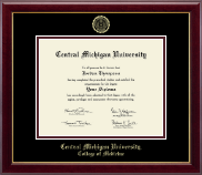 Central Michigan University Diploma Frame - Gold Embossed Diploma Frame in Gallery