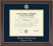 Howard University School of Law Diploma Frame - Masterpiece Medallion Diploma Frame in Chateau