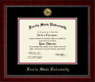Ferris State University Diploma Frame - Gold Engraved Medallion Diploma Frame in Sutton
