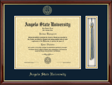Angelo State University Diploma Frame - Tassel Edition Diploma Frame in Southport Gold