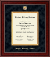 Virginia Military Institute Diploma Frame - Presidential Masterpiece Diploma Frame in Jefferson