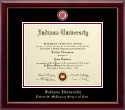 Indiana University - Purdue University Diploma Frame - Masterpiece Medallion Diploma Frame in Gallery