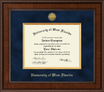 University of West Florida Diploma Frame - Presidential Gold Engraved Diploma Frame in Madison