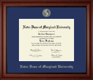 Notre Dame of Maryland University  Diploma Frame - Gold Embossed Diploma Frame in Cambridge