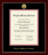 Virginia Military Institute Diploma Frame - Gold Engraved Medallion Diploma Frame in Sutton