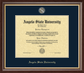 Angelo State University Diploma Frame - Masterpiece Medallion Diploma Frame in Hampshire
