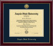 Angelo State University Diploma Frame - Gold Engraved Medallion Diploma Frame in Gallery
