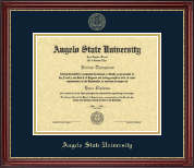 Angelo State University Diploma Frame - Gold Embossed Diploma Frame in Kensington Gold