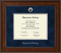 Champlain College Diploma Frame - Presidential Silver Engraved Diploma Frame in Madison