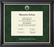 Champlain College Diploma Frame - Silver Engraved Medallion Diploma Frame in Midnight