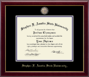 Stephen F. Austin State University Diploma Frame - Masterpiece Medallion Diploma Frame in Gallery