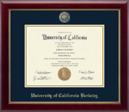 University of California Berkeley Diploma Frame - Masterpiece Medallion Diploma Frame in Gallery