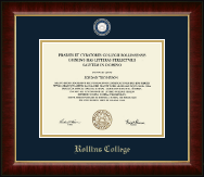 Rollins College Diploma Frame - Masterpiece Medallion Diploma Frame in Murano