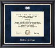 Rollins College Diploma Frame - Regal Edition Diploma Frame in Noir