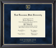 East Tennessee  State University Diploma Frame - Regal Edition Diploma Frame in Noir