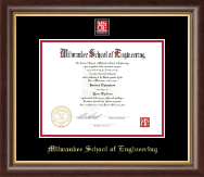 Milwaukee School of Engineering Diploma Frame - MSOE Masterpiece Medallion Diploma Frame in Hampshire