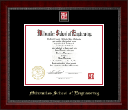Milwaukee School of Engineering Diploma Frame - MSOE Masterpiece Medallion Diploma Frame in Sutton