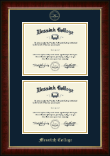 Messiah College Diploma Frame - Double Diploma Frame in Murano