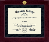 Messiah College Diploma Frame - Millennium Gold Engraved Diploma Frame in Cordova