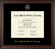 Carol Martin Gatton Academy Diploma Frame - Gold Embossed Diploma Frame in Studio