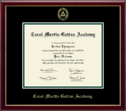 Carol Martin Gatton Academy Diploma Frame - Gold Embossed Diploma Frame in Galleria