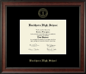 Buckhorn High School Diploma Frame - Gold Embossed Diploma Frame in Studio