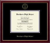 Buckhorn High School Diploma Frame - Gold Embossed Diploma Frame in Galleria