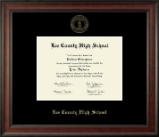 Lee County High School Diploma Frame - Gold Embossed Diploma Frame in Studio