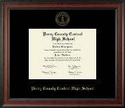 Perry County High School Diploma Frame - Gold Embossed Diploma Frame in Studio