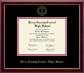 Perry County High School Diploma Frame - Gold Embossed Diploma Frame in Galleria