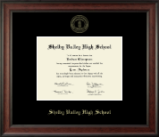 Shelby Valley High School Diploma Frame - Gold Embossed Diploma Frame in Studio