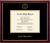 Cordia High School Diploma Frame - Gold Embossed Diploma Frame in Galleria