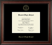 Hazard High School Diploma Frame - Gold Embossed Diploma Frame in Studio